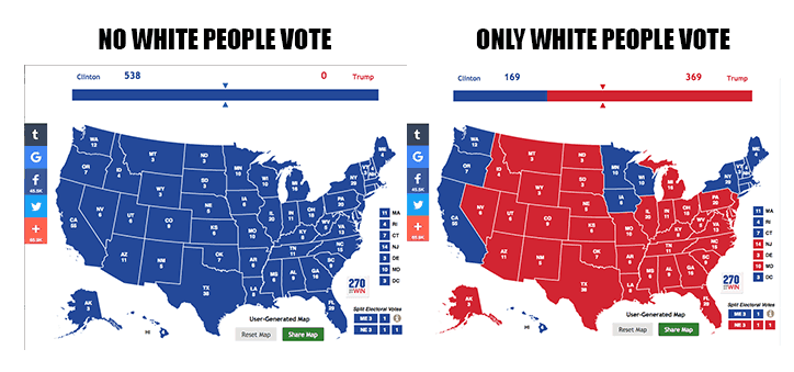 Map of voting by race